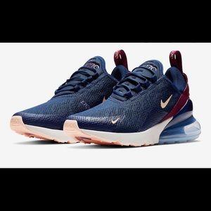Nike Air Max 270 Blue/Burgundy/ Berry/Peach 7